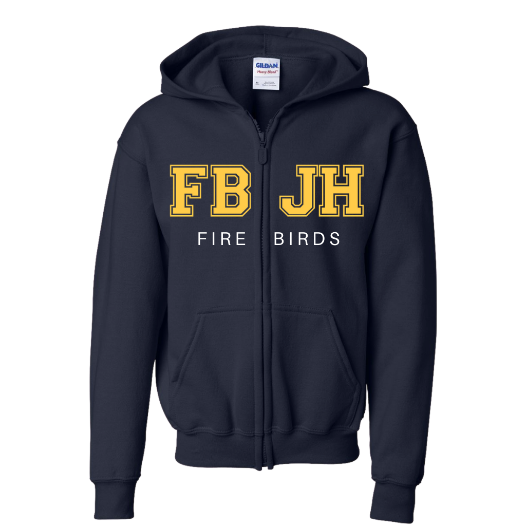 FBJH- Full Front Embroidered/Twill Unisex Zip Fleece (Various Colors)