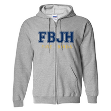 Load image into Gallery viewer, FBJH- Full Front Embroidered/Twill Unisex Zip Fleece (Various Colors)