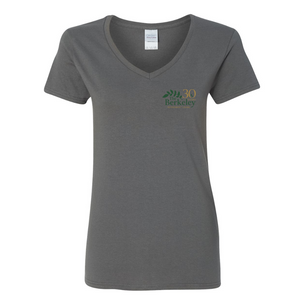 The Berkeley - V-Neck T-Shirt, Ladies, Charcoal