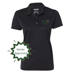The Berkeley- Dri-Wicking Polo, black. Server approved