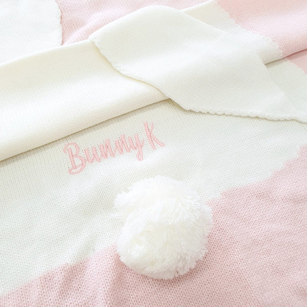 Bunny Knitted Blanket
