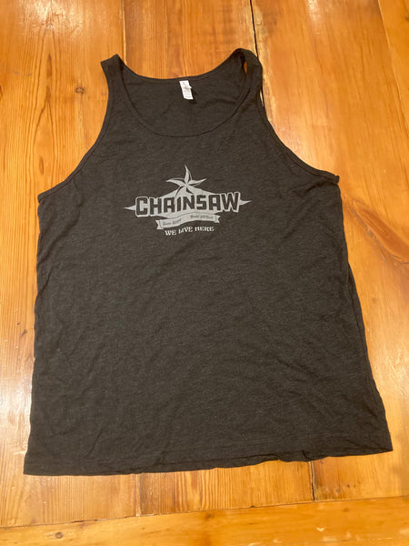 Unisex Black Chainsaw Logo Tank Top