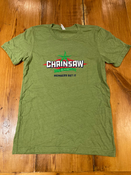 Unisex Chainsaw Chainership Gold Member T-Shirt