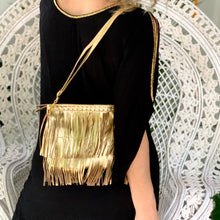 Load image into Gallery viewer, Gold Cross Purse / Clutch - IrregularLines