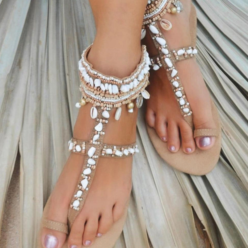 Neutral Beige Sandals - IrregularLines