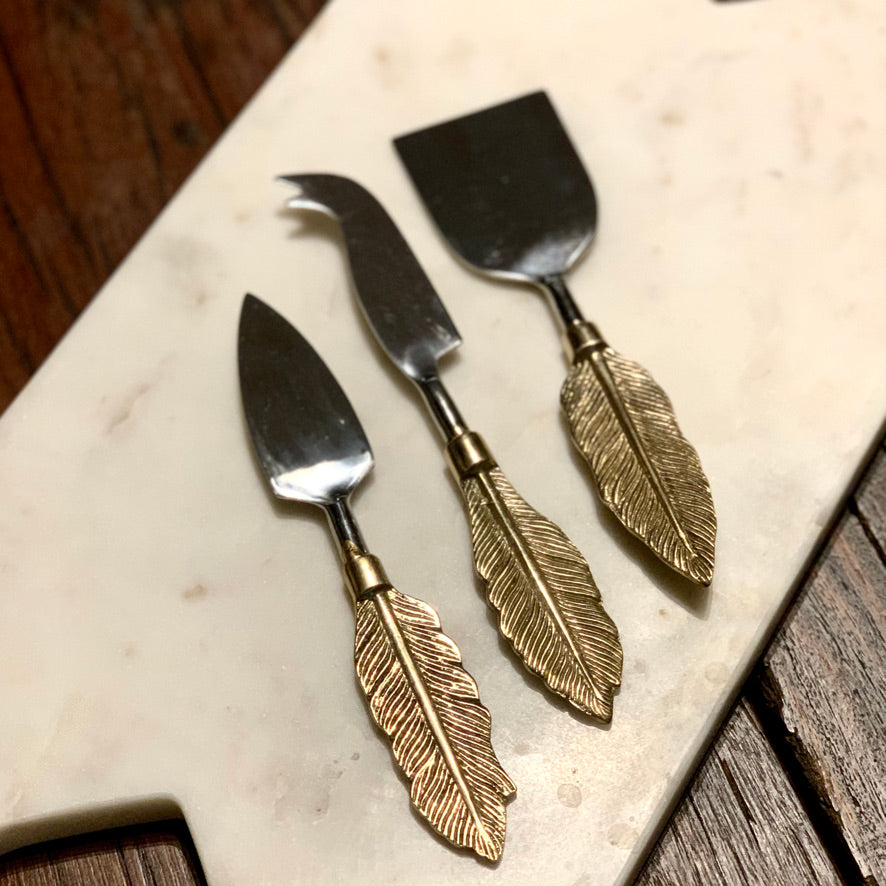 Feather Cheese Knives - IrregularLines