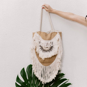 Jute Boho Handbag - IrregularLines