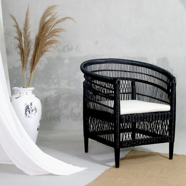 Malawi Chair Black - IrregularLines
