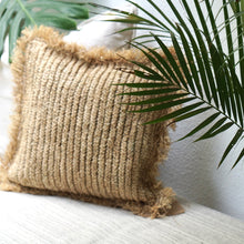 Load image into Gallery viewer, Natural Seagrass XL Cushion Cover - IrregularLines