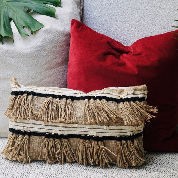 Fringe Jute Cushion - IrregularLines