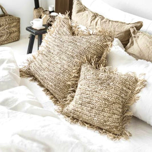Natural Seagrass XL Cushion Cover - IrregularLines