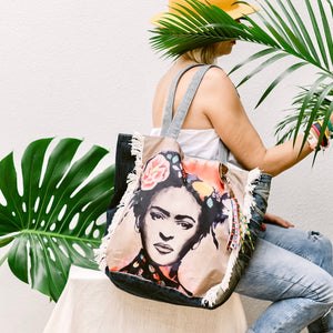 FRIDA KAHLO TOTE BAG - IrregularLines