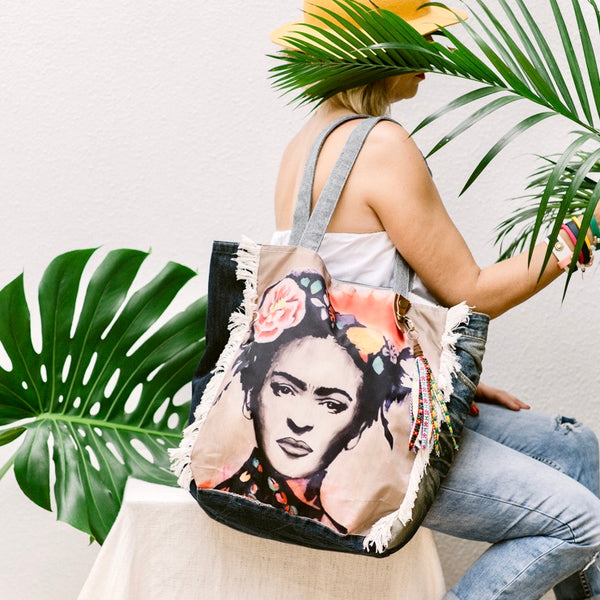 Frida Kahlo Tote Bag FK26 - IrregularLines