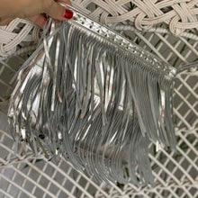 Load image into Gallery viewer, Silver Cross Purse / Clutch - IrregularLines