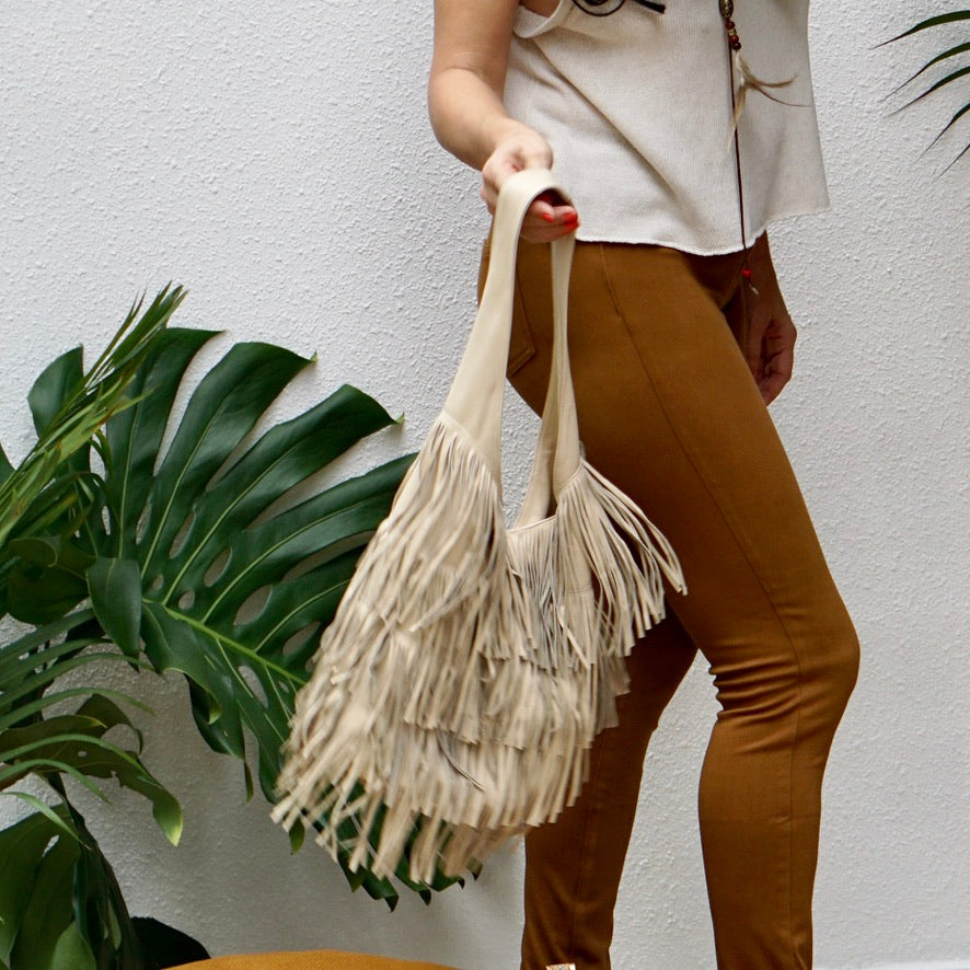 Cowgirl Round Bag with tassels - IrregularLines