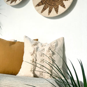 Creamy Cushion Cover - IrregularLines