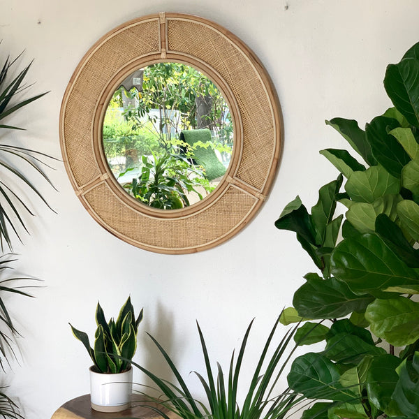 Rattan Round Mirror - IrregularLines