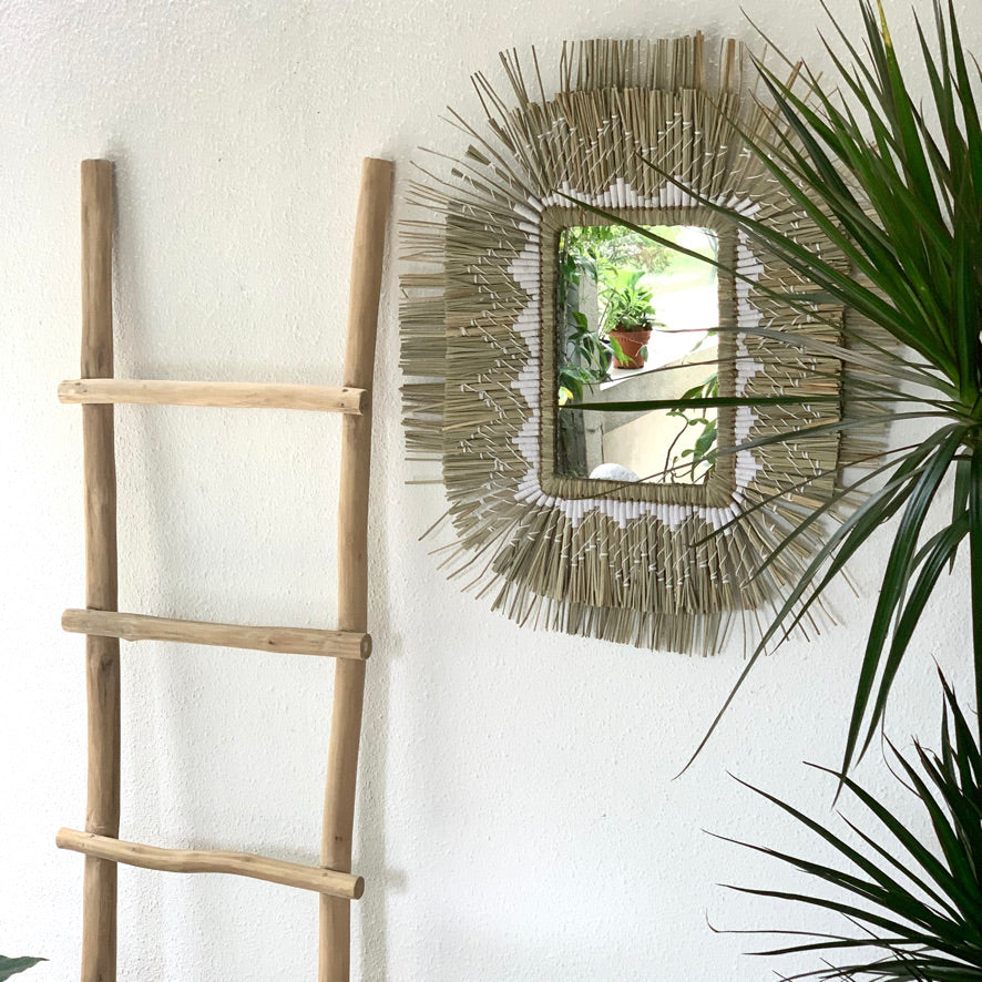 Gyzi Mirror Natural with White - IrregularLines