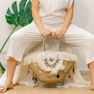 Rattan Boho Handbag - IrregularLines