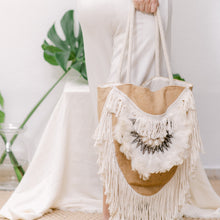 Load image into Gallery viewer, Jute Boho Handbag - IrregularLines
