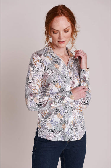 Printed Daisy Patchwork Shirt