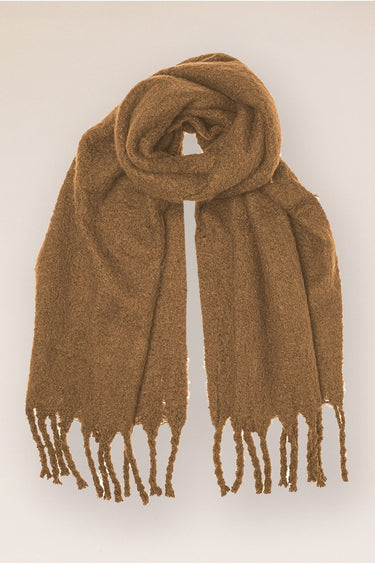 Recycled Super Fluffy Scarf in Camel