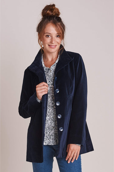 Short Moleskin Coat in Navy Blazer