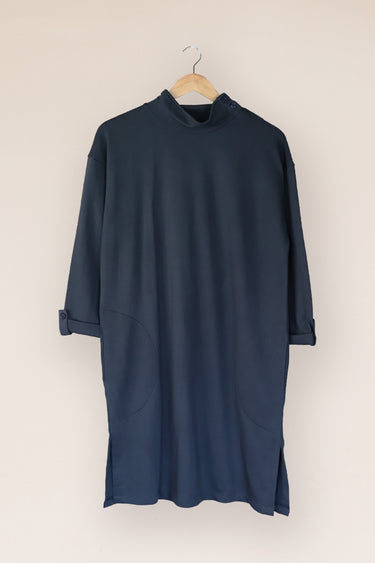 Plain Turtle Neck Sweat Dress
