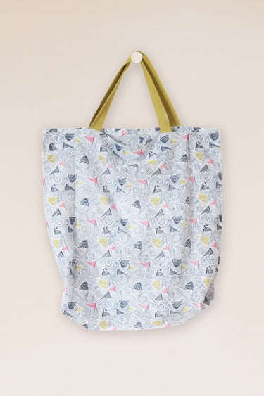 Swirling Boats Shopping Tote