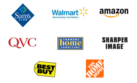 List of Retailers that work with us