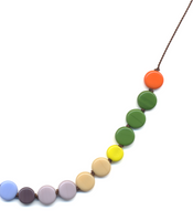 Rainbow Disks Necklace