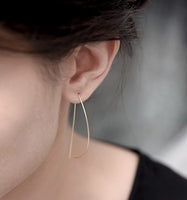 Svelte D Hoop Earrings