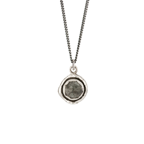 Tourmalated Quartz Faceted Stone Talisman Necklace