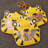 Reusable Animal Zipper Bag Set