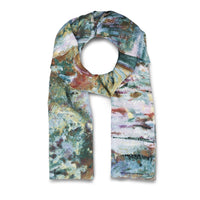 Monet Bridge and Water Lilies Scarf