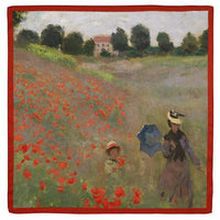 Monet Poppy Field Square Scarf