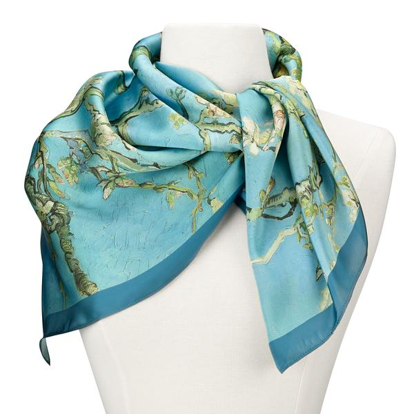 Van Gogh Almond Blossoms Square Scarf