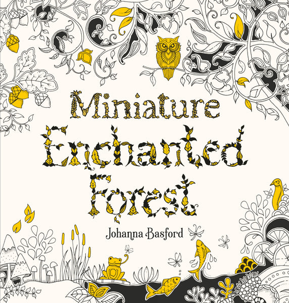 Miniature Enchanted Forest Colouring Book