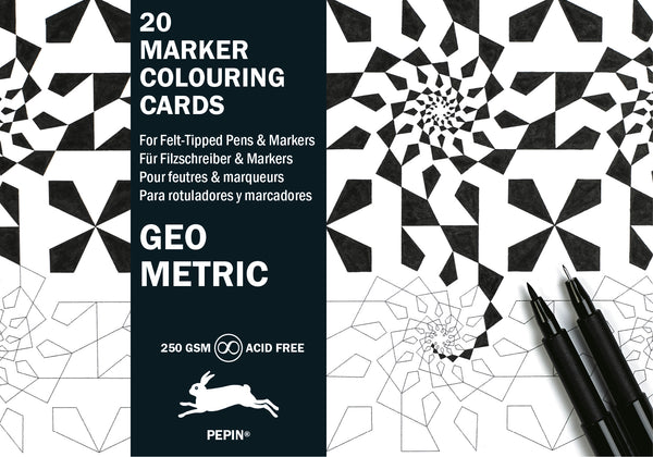 Geometric Marker Postcard Marker Colouring Book