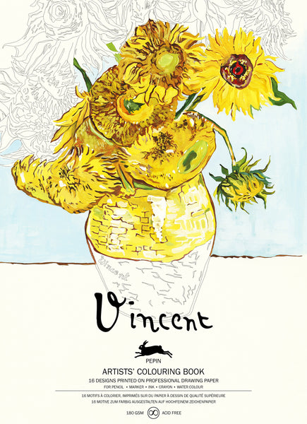 Vincent van Gogh Colouring Book