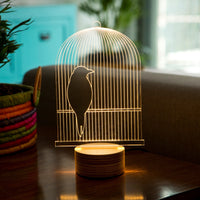 Bird Cage LED Illusion Lamp