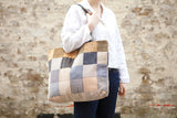 Kandinsky Wool & Leather Tote Bag