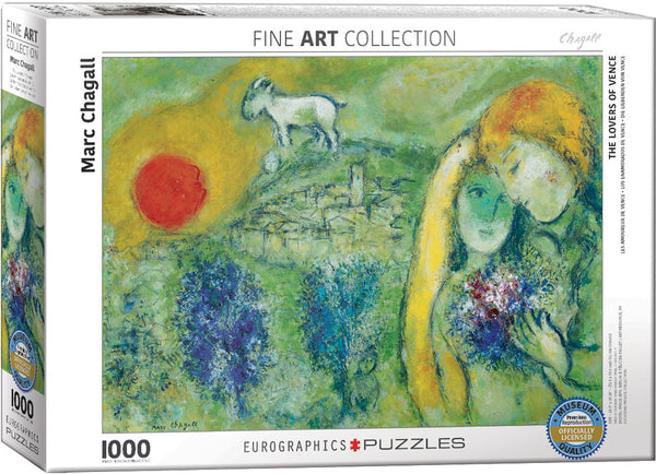 Marc Chagall: The Lovers of Vence Puzzle