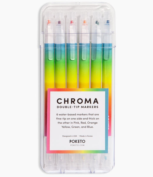 Chroma 6-pack Double Tip Markers