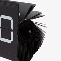 Flipping Out Clock Black