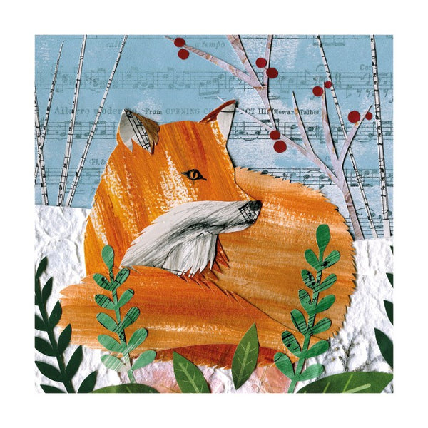 Cozy Fox Holiday Cards - Set of 8