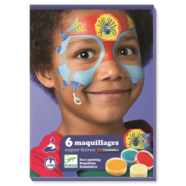 Superhero Face Painting Kit