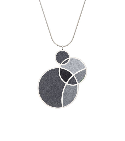 March Balloons Black - Small Concrete Necklace