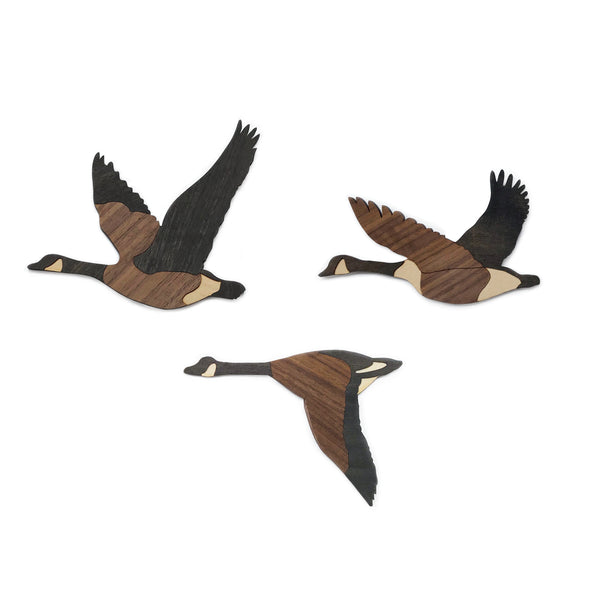 Canada Geese Ornaments - Set of 3