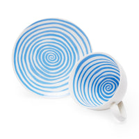 Louise Bourgeois: Spirals Teacup & Saucer - Blue